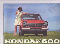 1968 HONDA N600 Scamp Car - 16 Page Sales Brochure -  NOS