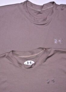 Mens Lot of 2 Brown UNDER ARMOUR TACTICAL S/S Training Shirt size S USA