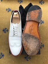 Oliver Sweeney Mens Shoes White Leather Lace Up UK 8 US 9 EU 42 Goodyear