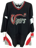 Vipers CCM Roller Hockey Jersey Black Screen Printed Vintage Logo Canada Mens L
