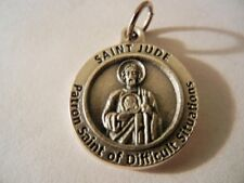 "St. Jude Patron Saint of Difficult Situations  New!  Made in Italy!  3/4"" round"