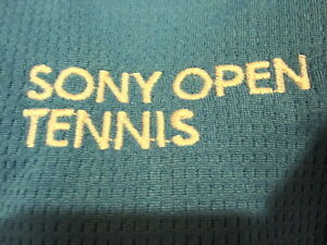 SONY Open tennis POLO SHIRT Light Blue Large Miami Masters ATP WTA Novak Serena