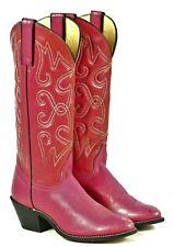 Wrangler Raspberry Pink Western Boho Cowboy Boots Vintage US Made Women's 6 M