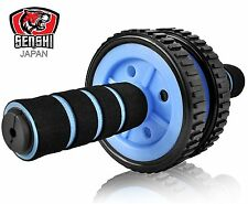 UK Warrior New Double Wheel Ab Roller Wheel Gym Exercise Core Strength Exerciser