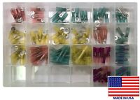 (115) Heat Shrink & Crimp Electrical Wire Terminal Connector Assortment Kit USA