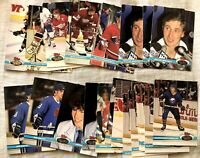 1991-92 Stadium Club 22 card lot Gretzky Fedorov Jagr Lemieux Roy Sakic Yzerman