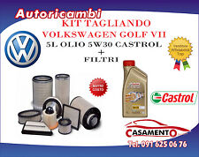 KIT TAGLIANDO 5L CASTROL 5W30 +FILTRI VW GOLF VII 2.0 GTD 135KW DAL 04/13 IN POI