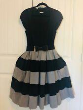 eShakti Retro 50's Rockabilly Black & Grey Dress 18/Xl