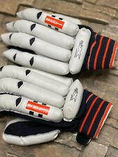 Mens Gray Nicolls Padded Cricket Batting Gloves Leather Gnx Lightning Large