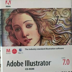 ADOBE ILLUSTRATOR 7.0 Application & Tutorial CDs for Mac