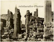 Egypt, Karnak, Temple and obelisk by Zangaki, Original Photo, ca. 1900