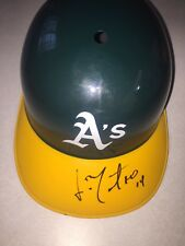 Jorge Mateo Signed Autographed Full Size Oakland A Helmet Perfect