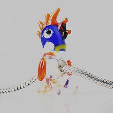 1pcs SILVER MURANO GLASS BEAD LAMPWORK Animal Fit European Charm Bracelet DW368