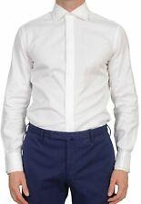 BALDESSARINI White Textured Cotton French Cuff Dress Shirt US 15.75 EU 40 Shaped