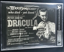 PETER CUSHING & CHRISTOPHER LEE DRACULA DUAL SIGNED AUTOGRAPH PHOTO BECKETT BAS