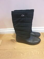 Lacoste  Women's Boots Black Mid pull on Leather Size UK 6.5 EUR40