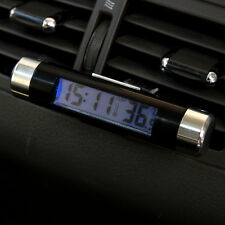 2in1 LED Digital Car Clock Thermometer Temperature Auto LCD Backlight+Battery US