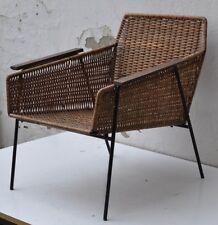 2 x sillón mbm Munich ayuda Boulevard muebles alambre bastidor, entramado, teca reposabrazos