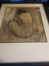 PICASSO Seated blue  nudeLARGE COLOR LITHOGRAPH/framed snd signed.