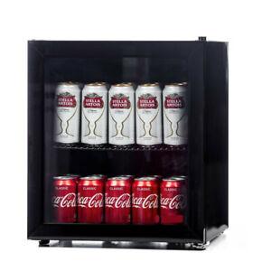 Bush Mini Table Top Drinks Beer Wine Chiller Cooler Fridge Glass Door - Black
