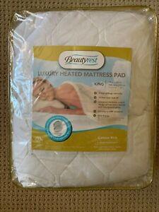 Beautyrest Cotton Blend Heated Mattress Pad Luxury Quilted KING Deep Pocket