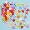 100X Baby Kid Mixed Colors Resin  Pentagram Star Buttons Sewing Craft Supply