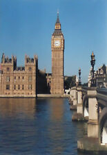 HOUSES OF PARLIAMENT BIG BEN RIVER THAMES BRIDGE LONDON PHOTO 9.5 X 6.6 INCHES