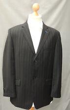 """BEN SHERMAN   -  Black Wool Wide  Stripe  Blazer/Suit Jacket - 42"""" R"""