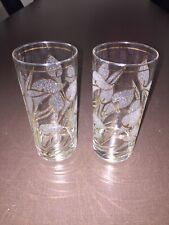 2 Retro Drinking Glasses