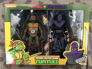 NECA TMNT Teenage Mutant Ninja Turtles Raphael vs Foot Soldier Figure 2-pack