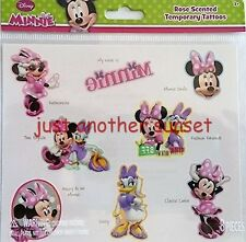 Disney Minnie Mouse Daisy Duck Temporary Tattoo Sheet Rose Scented Party Favor