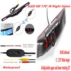 Wireless Rear View Reverse Backup Camera IR Night Vision Car License Plate Mount