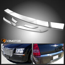 2005-2010 Chrysler 300 Front+Rear Chrome Bumper Trim