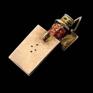 RARE ANTIQUE (1900) 9CT ROSE GOLD OPENING JACK IN THE BOX CHARM