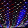 US Multicolor 96~960 LED Curtain Net Mesh String Fairy Lights Wedding Xmas Party