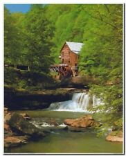 Creek Mill In Spring Landscape Scenery Nature Picture Art Print (8x10)