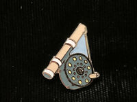 1980's Vintage Mafco Fly Fishing Reel (small) hat pin, lapel