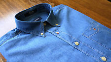 Gant size L The Indigo Regular Fit Men's Casual Shirts Jeans Blue NEW