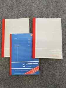 3 x Lieferscheinblock Herlitz Lieferscheine