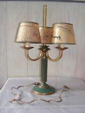 ANCIENNE LAMPE BOUILLOTTE BOUGEOIRS DESIGN 3 FEUX  en cuivre laiton et peint