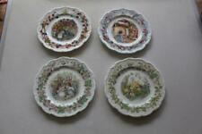 "Set of Four Royal Doulton Brambly Hedge Seasons Plates 8"" wide"
