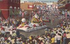Postcard Colorful Floats Aquatennial Parade Minneapolis Mn