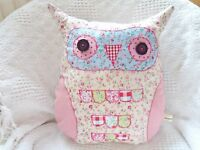 Owl Cushion Craft Kit Complete Sewing Kit Reusable Pattern Ditsy Fabric Gorgeous