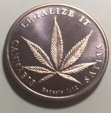 United States 'Legalize It' One Ounce (1oz.) Pure Copper Coin - Round