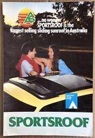 1980's Auto Sun and Air Sportsroof Sunroof original Australian sales brochure