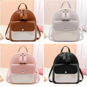 Women Small Backpack Travel PU Leather Handbag Rucksack Shoulder Bags Fashion