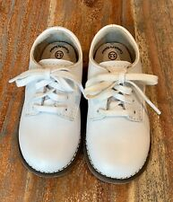 Footmates Boy's White Leather Lace-Up Willy Oxford Saddle Shoes Toddler 5.5 M