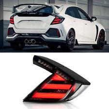 For Honda Civic Hatchback Dark Led Rear Lamps Assembly Led Tail Lights 2016 2020