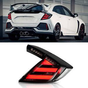 For Honda Civic Hatchback Dark LED Rear Lamps Assembly LED Tail Lights 2016-2020