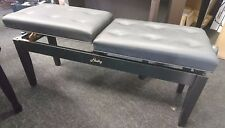 Hadley Hds500 Duet Double Piano Stool Black 2 Players Book Storage 1/2